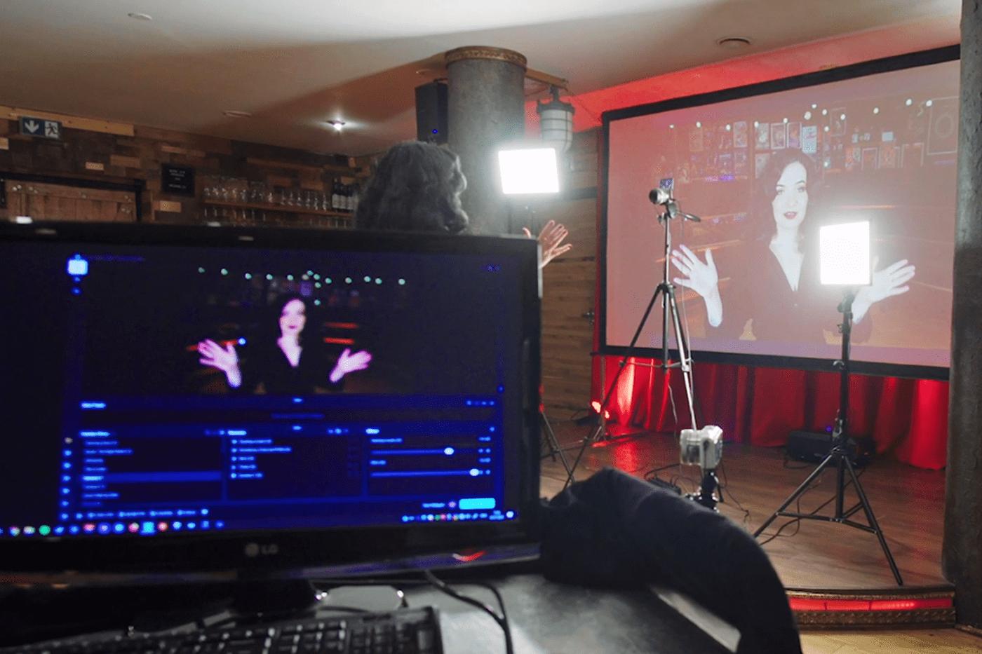 Heldeke TV studio screen and online streaming platform in Estonia